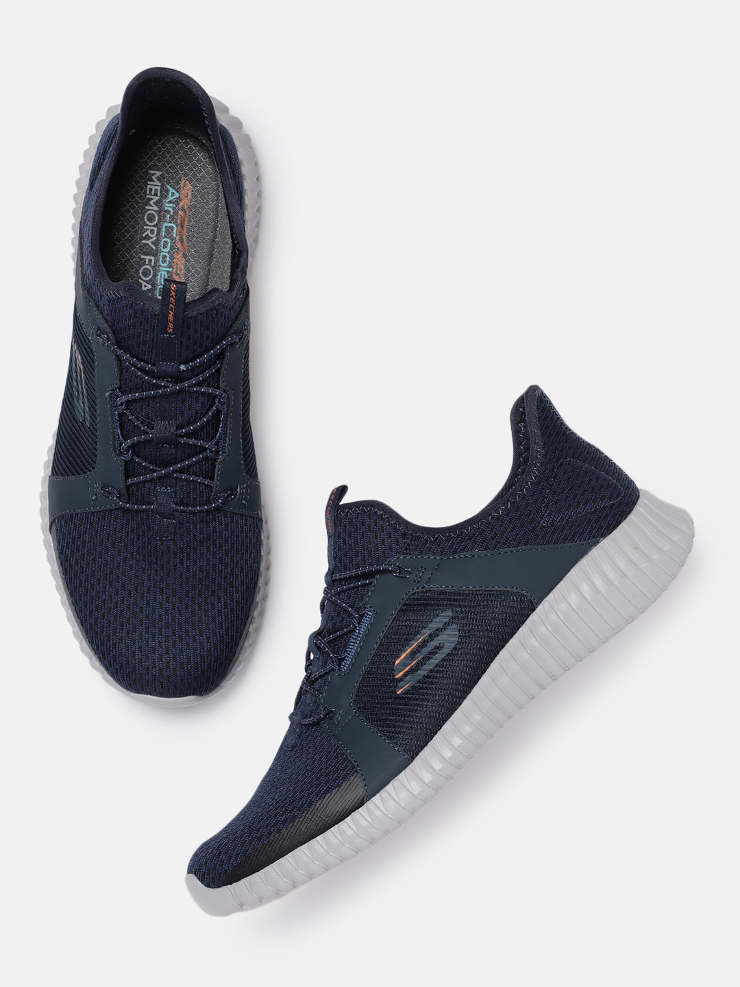 Navy Blue ELITE FLEX Slip-On Sneakers