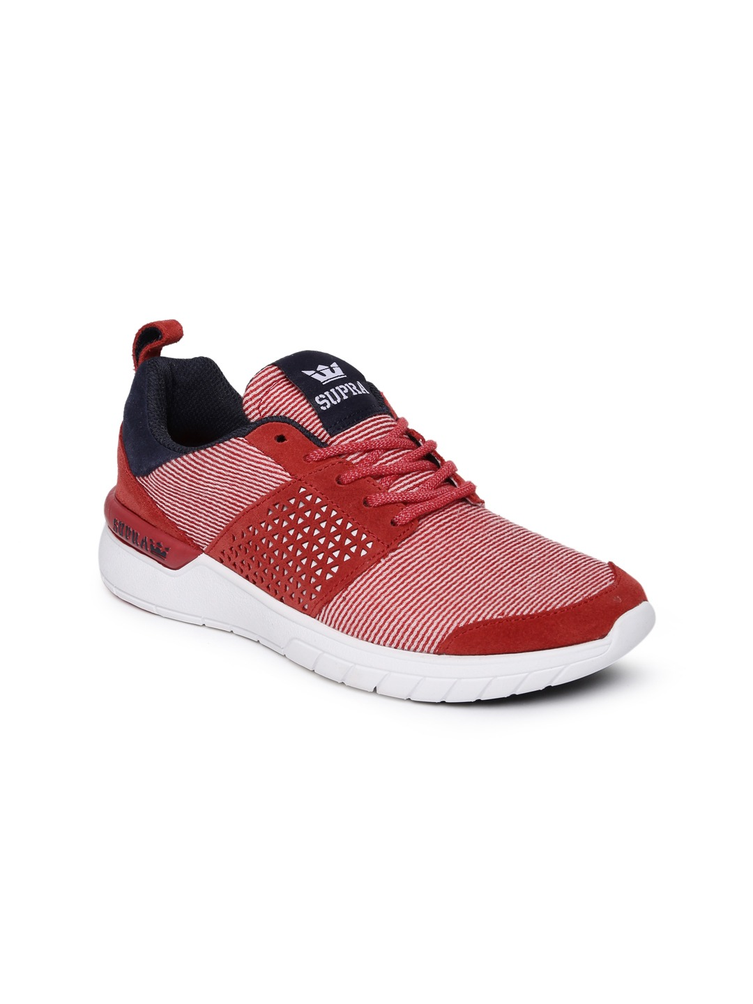 Coral Red & Navy Blue Scissor Skate Shoes