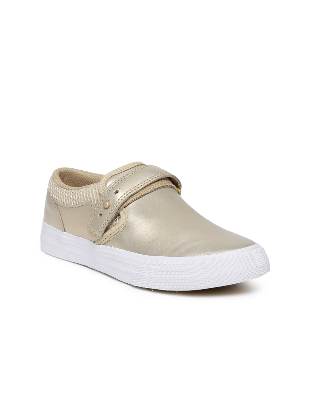 Mute Gold-Toned Cubana Leather Skateboarding Sneakers