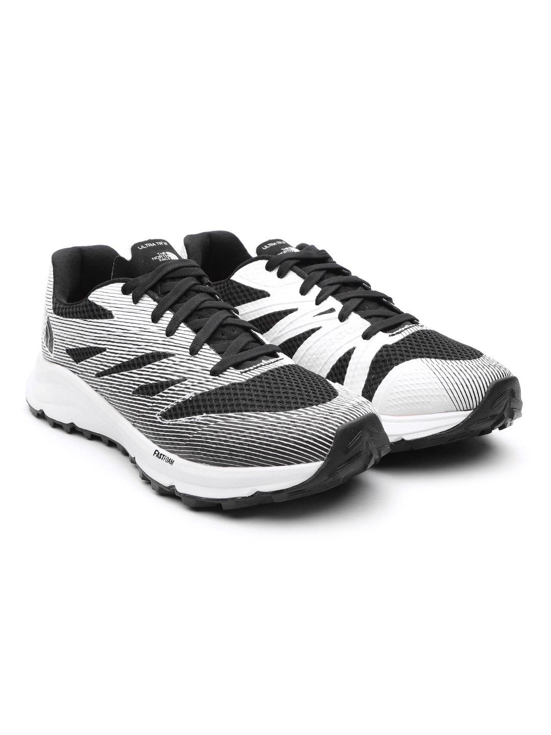 Black & White Striped Ultra TR III Running Shoes