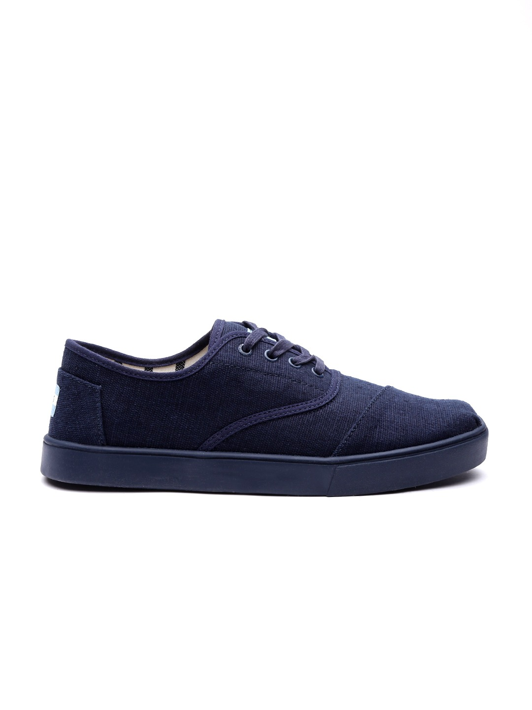 Navy Blue Solid Sneakers
