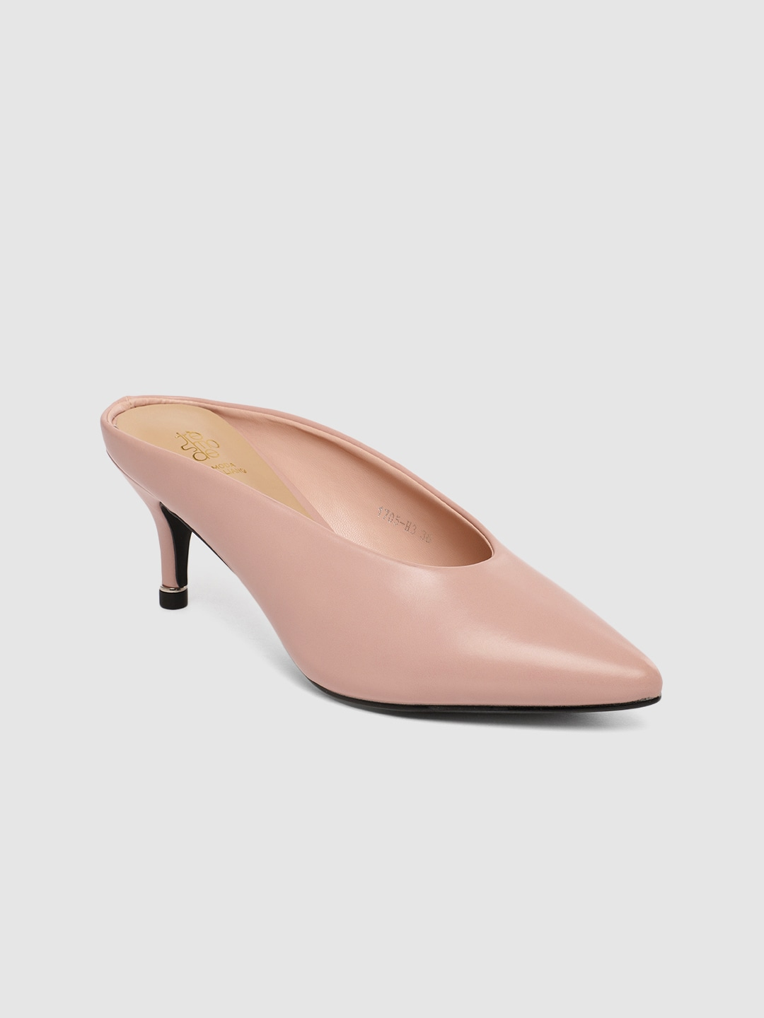 Pink Solid Mules