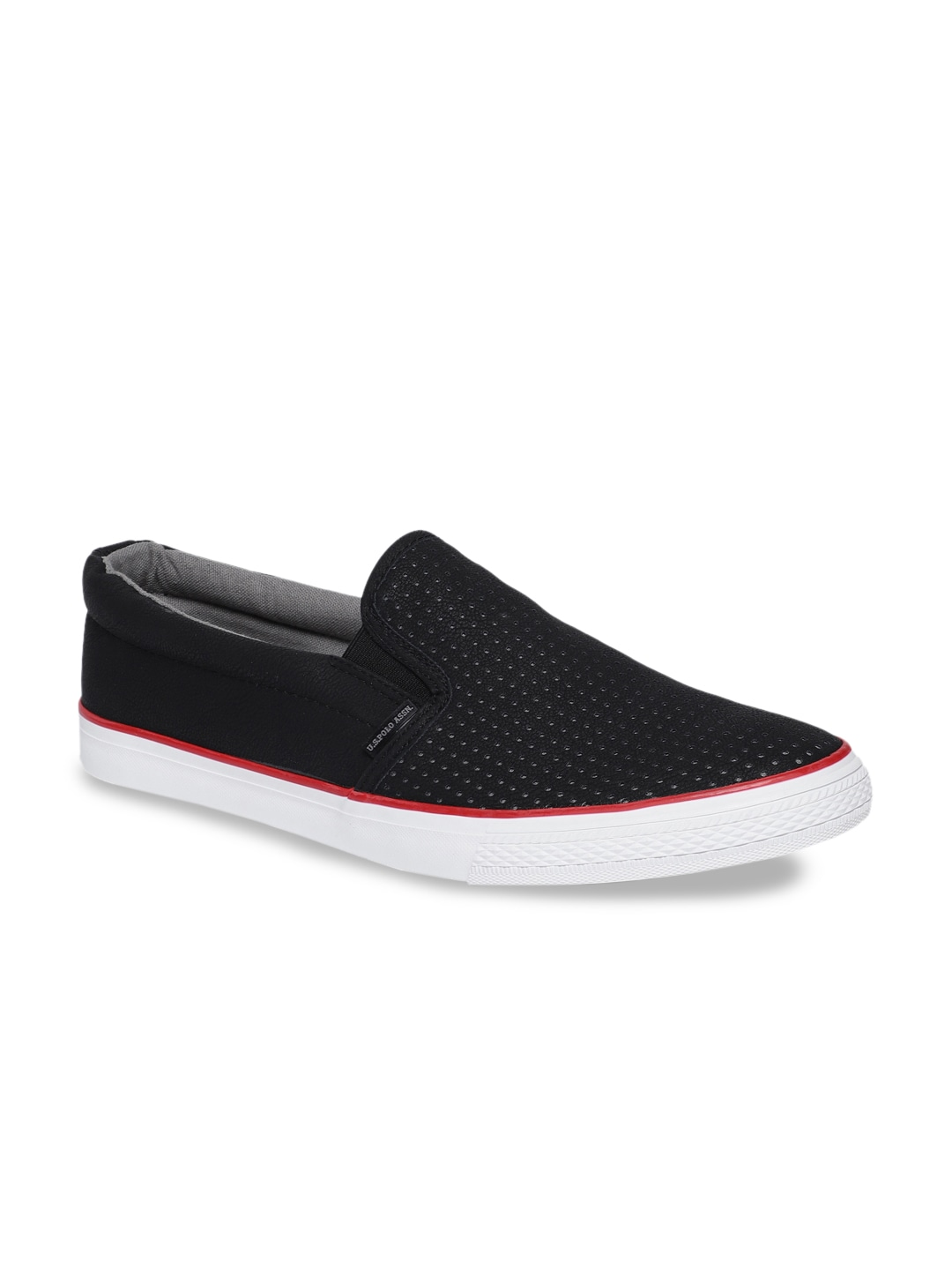 Black Slip-On Sneakers