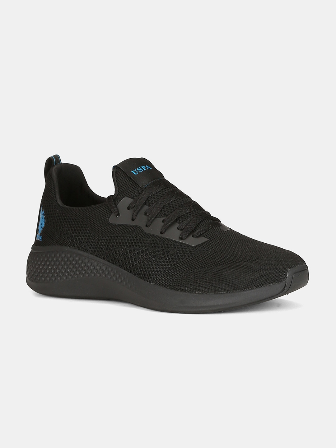 Black Woven Design Sneakers