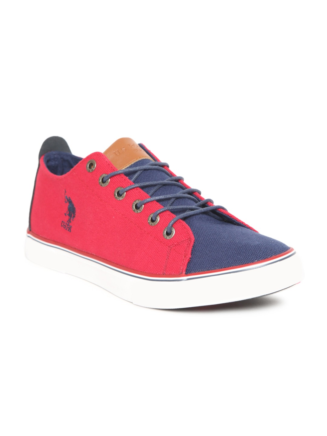 Red & Navy Colourblocked Sneakers