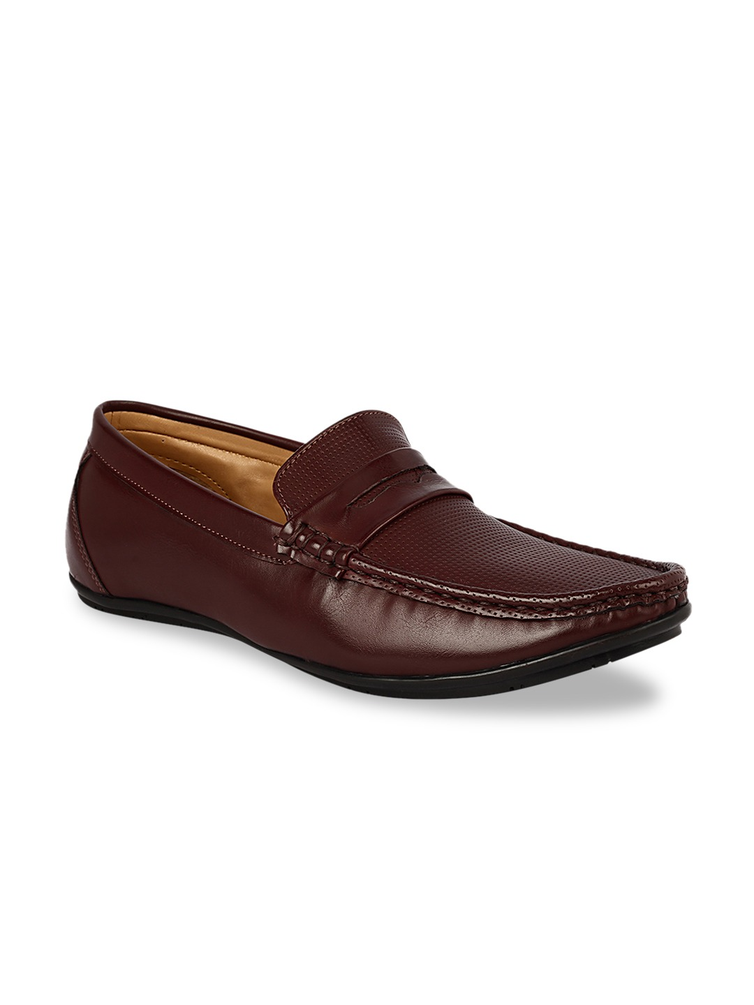 Brown Solid Formal Loafers