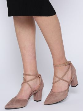 Dusty Pink Solid Pumps