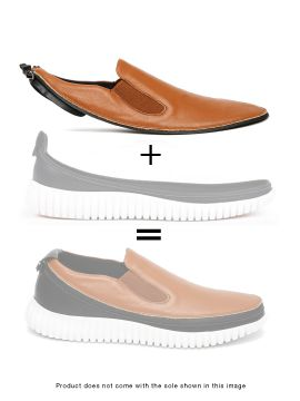 Brown Mocassino Skin of Customizable Shoes