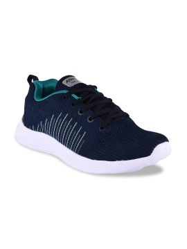 Navy Blue Synthetic Running Shoes