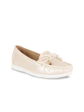 Cream-Coloured Perforated Loafers