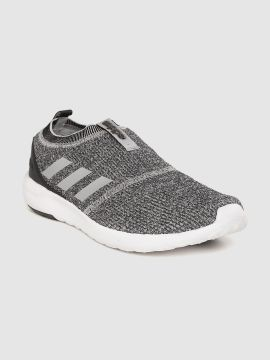 Charcoal Grey Lyrid Woven Design Running Shoes