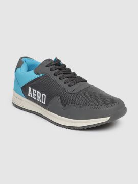 Grey & Blue Colourblocked Wincent Sneakers