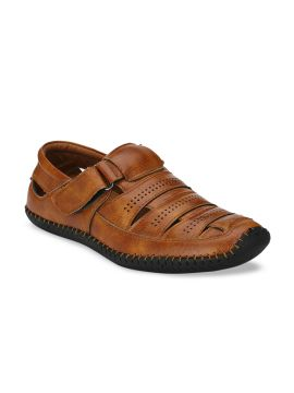 Tan Brown Shoe Style Sandals