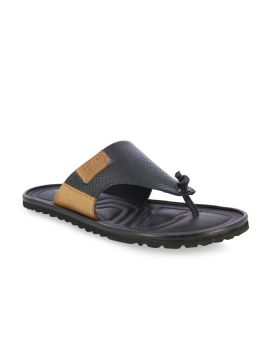 Black & Camel Brown Comfort Sandals