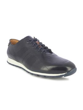 Navy Blue Solid Oxfords