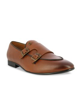 Tan Brown Solid Formal Monks