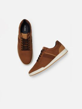 Brown Colourblocked Sneakers