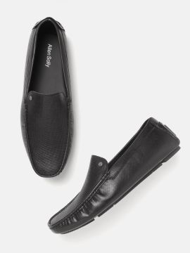 Black Perforated Driving Shoes