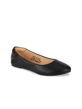 Black Solid Ballerinas