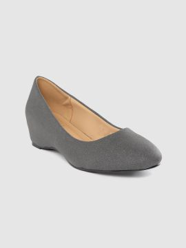 Charcoal Grey Shimmer Pumps