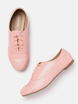 Pink Perforated Oxfords