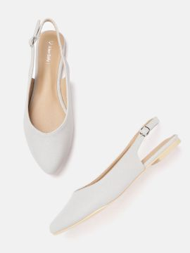 Silver-Toned Shimmer Flats