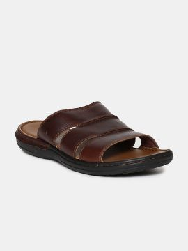 Brown Leather Comfort Sandals
