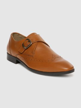 Brown Leather Formal Monk Shoes