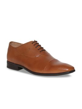 Tan Brown Leather Oxfords