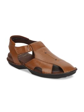 Tan Brown Comfort Leather Sandals