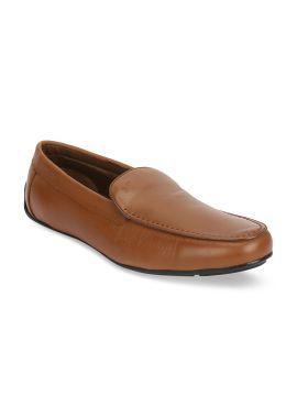 Tan Brown Leather Driving Shoes