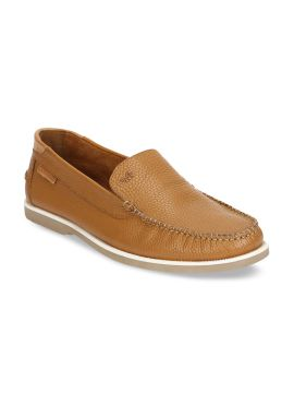 Tan Brown Leather Loafers