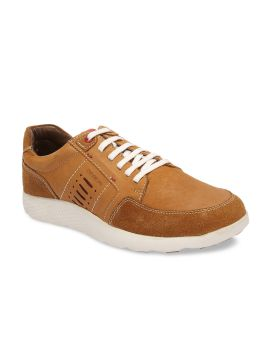 Tan Brown Suede Sneakers