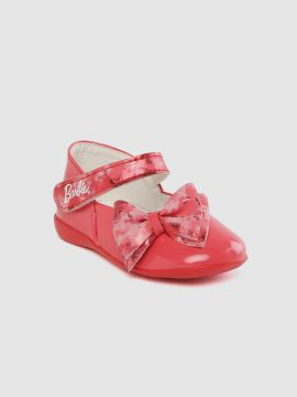 Coral Red Solid Mary Janes