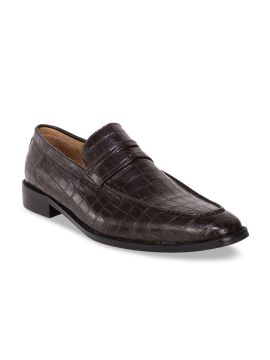 Brown Formal Leather Loafers