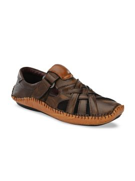 Brown Shoe-Style Sandals
