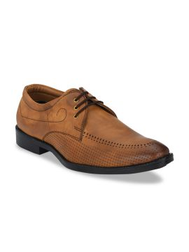 Tan Brown Formal Derby Shoes