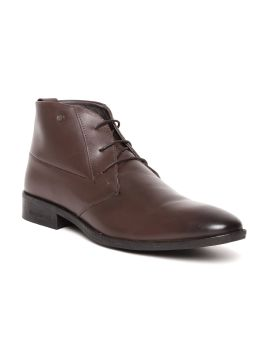 Brown Leather Mid-Top Derbys