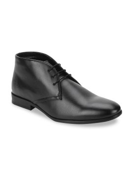 Black Solid Formal Boots