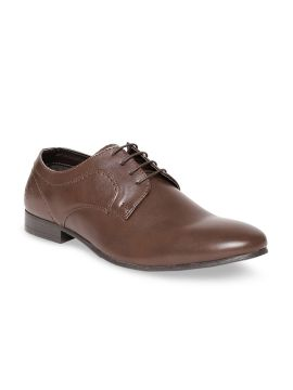 Brown Solid Formal Derbys