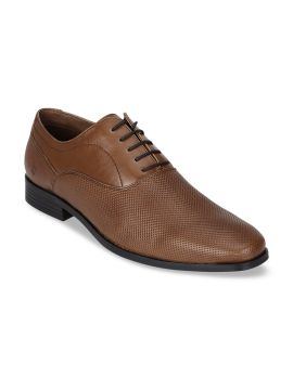 Tan Brown Solid Oxfords