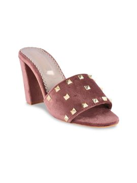 Maroon Solid Mules