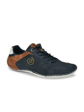 Blue & Brown Colourblocked Sneakers