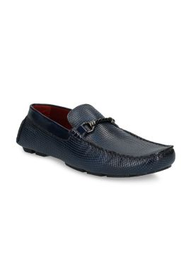 Blue Leather Driving Shoes