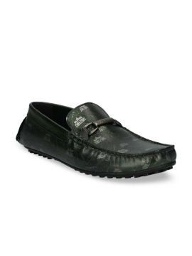 Green Leather Driving Shoes