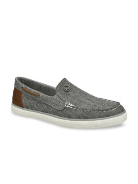 Grey Solid Boat Shoes