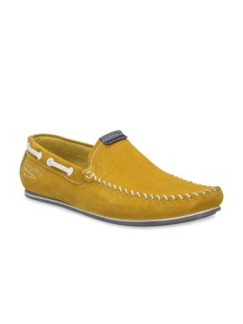 Yellow Boat Solid Suede Boat Shoes