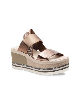 Copper-Toned Solid Flatforms