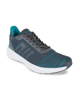 Grey & Turquoise Blue  Mesh Running Shoes