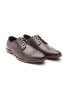 Coffee Brown Leather Formal Brogues